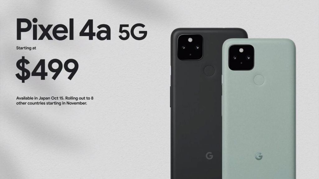 Google Pixel 4A 5G Price and availibility