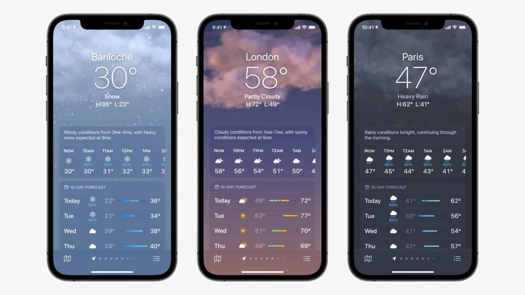 Weather App   iOS 15 Released in WWDC 2021   Everything you Need to Know